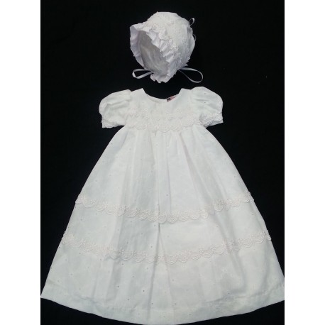 Cotton Christening Baptism Gown Dress