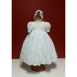 Cotton Christening Baptism Gown Dress Ropon 9339