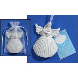 Baptism Christening Shell - Angel 4""