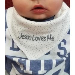 Bandana Bib - Jesus Loves Me