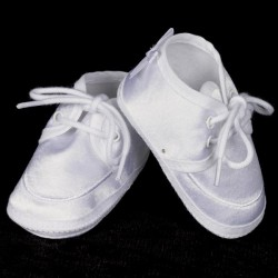 Christening Baptism Satin Shoe