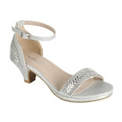 Strappy Silver Shoes  Youth Size 9-4