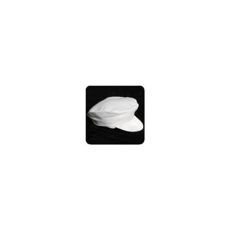 Cabbie News Boy Hat - White - Black